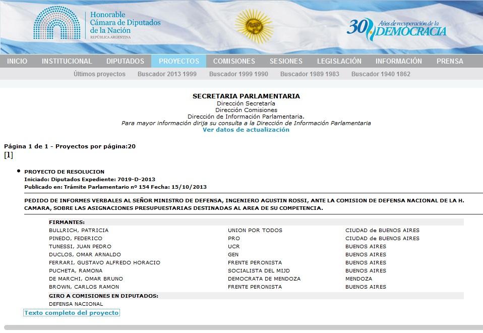 Caratula Proy Decr 7019-D-2013